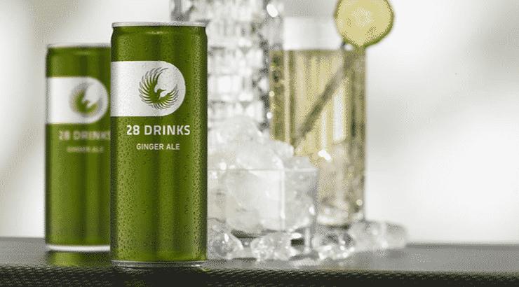 28 Drinks Ginger Ale • Inhaltsstoffe, Test, Geschmack & kaufen